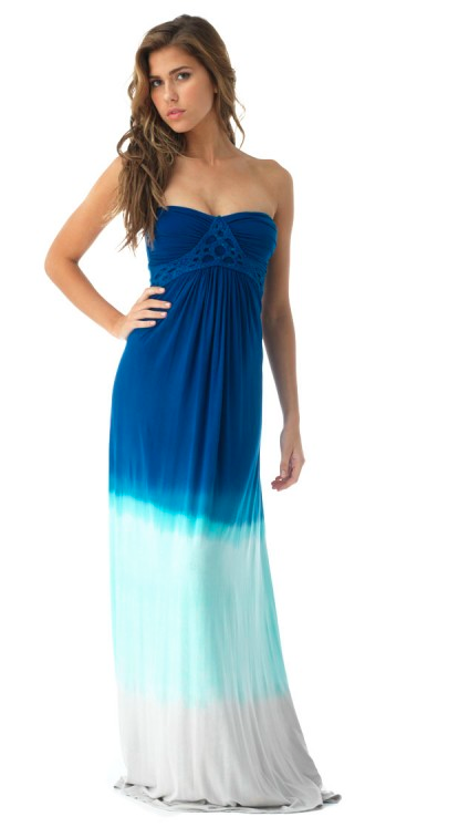 boutique flirt - Sky Gertruda Strapless Maxi Dress Blue Tie Dye, $180.00 (http://www.boutiqueflirt.com/sky-gertruda-strapless-maxi-dress-blue-tie-dye/)