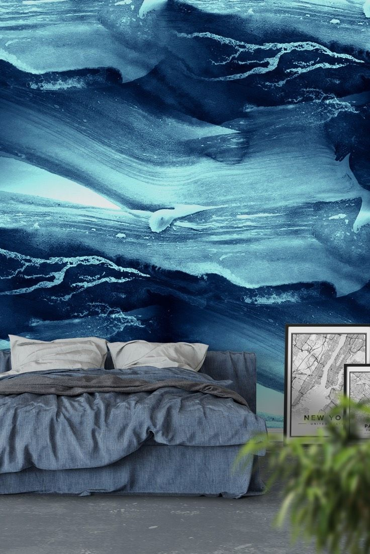 Abstract Blue Wallpaper Feature Wall Wallpaper Mural Wallpaper Abstract Wallpaper