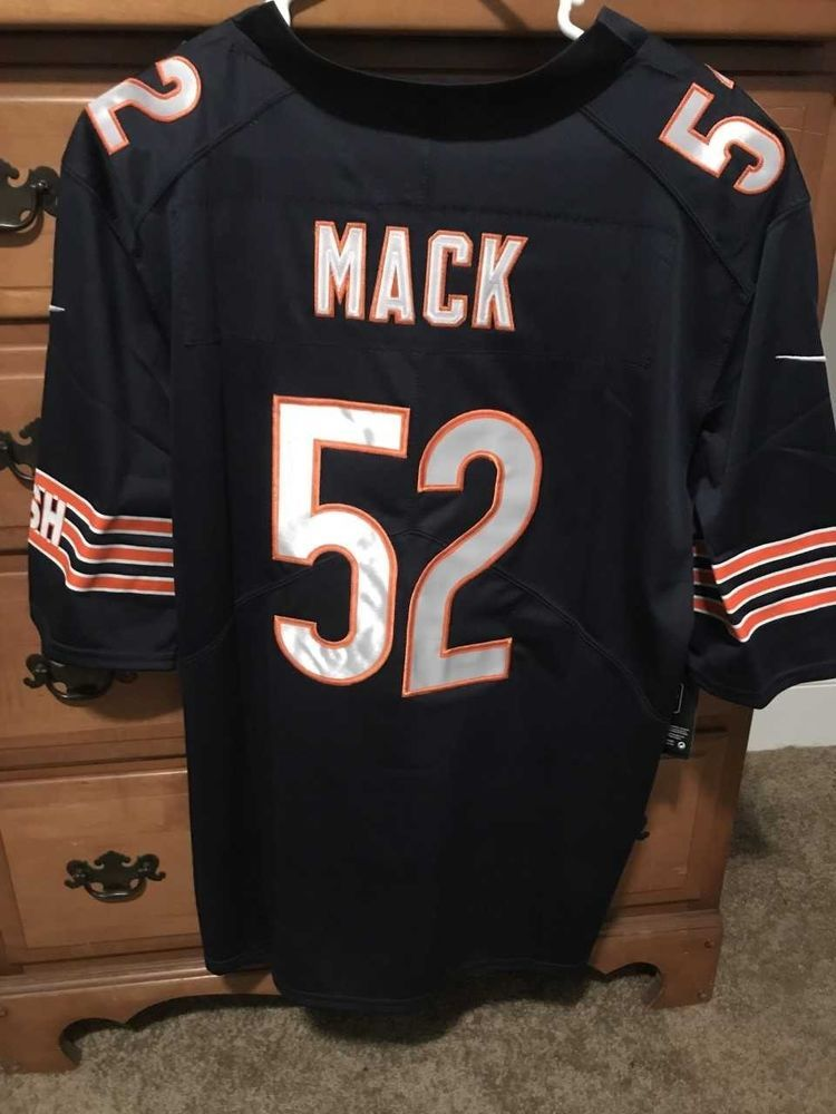 online retailer f8f4e 14201 CHICAGO BEARS STITCHED KHALIL MACK JERSEY #52 #fashion ...