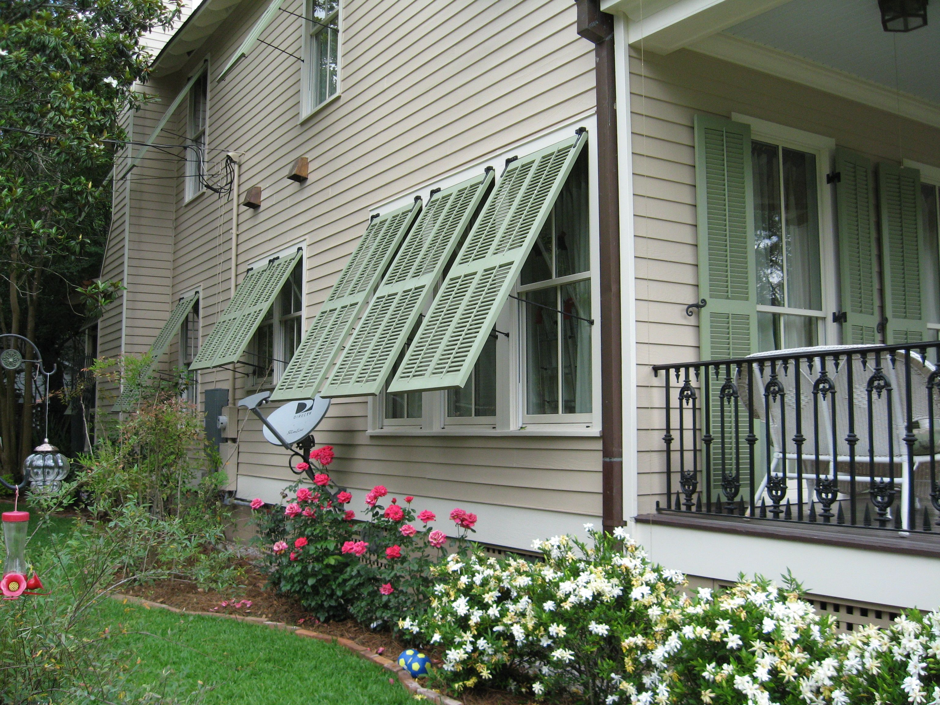 diy exterior louvered shutters