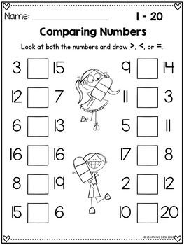 Comparing Numbers Worksheets First Grade Math Worksheets Comparing Numbers Worksheet Kindergarten Math Worksheets