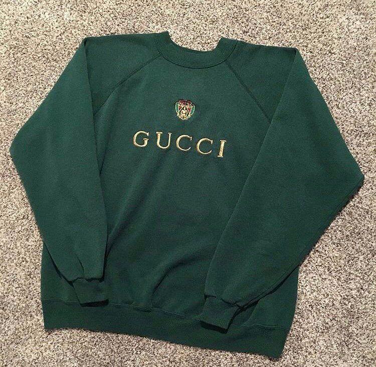 b34e4185ef3bd Image of Vintage Gucci Crewneck (green) | Hoodies in 2019 ...