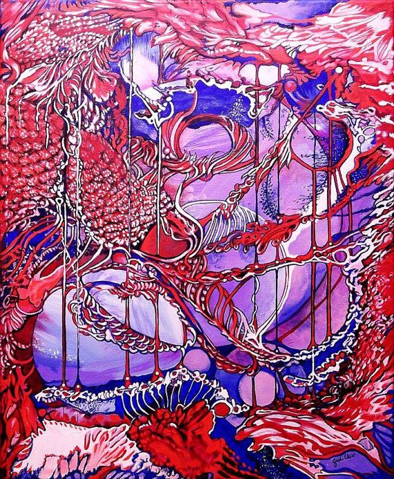 Dreamscape Wild Creative Energy Abstract Acrylic by JudiCainArtist, $245.00