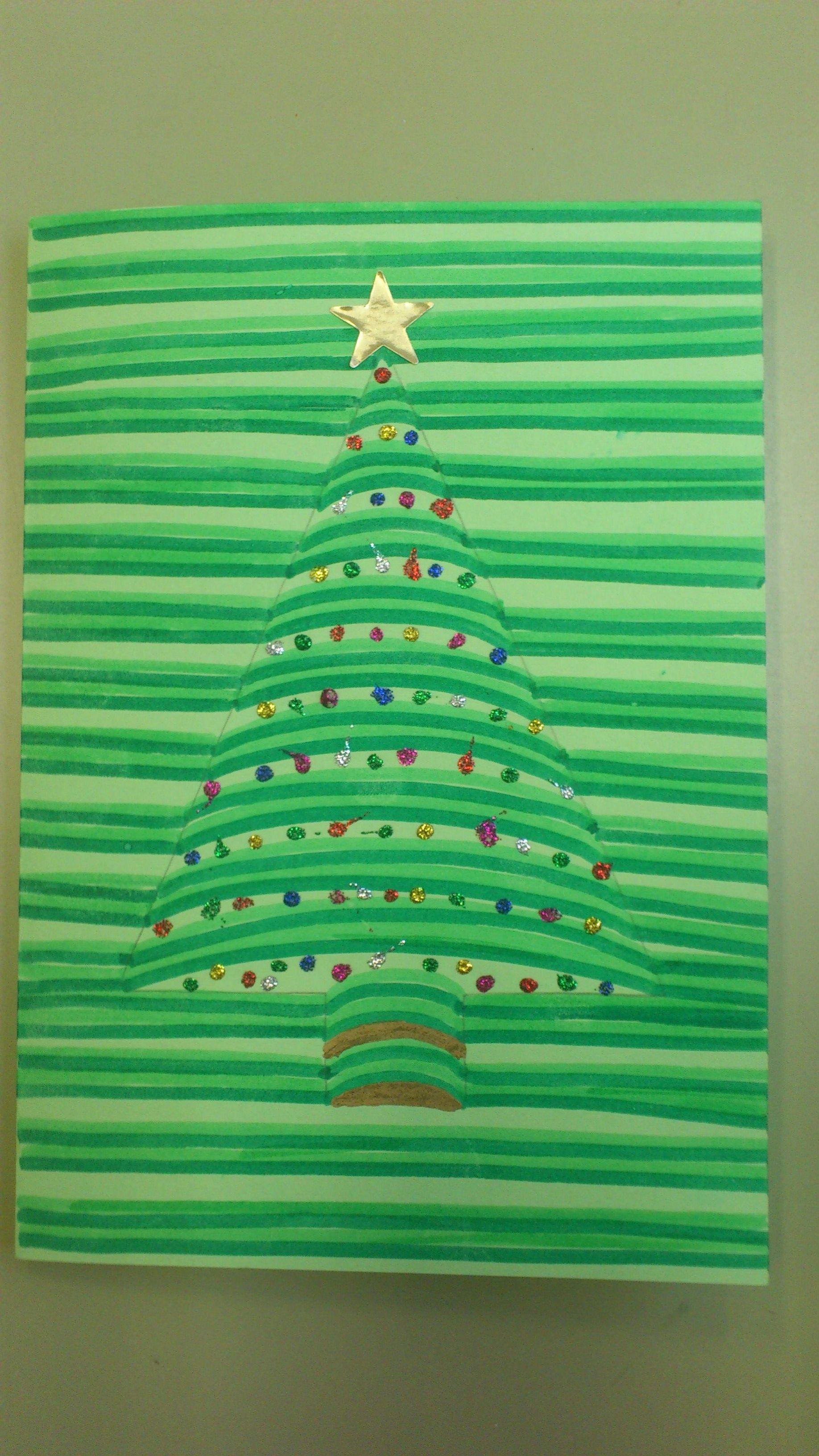 Tekenen Kerstboom In 3d Kerst Kerstmis Knutselen Kerst Kunst
