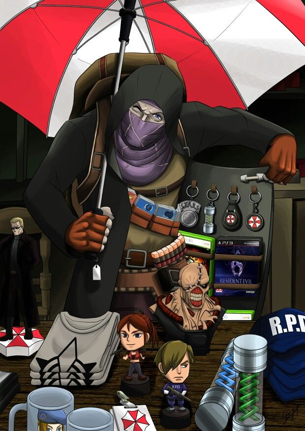Merchant Resident Evil Ilustracao Kawaii Resident Evil Personagens De Filmes