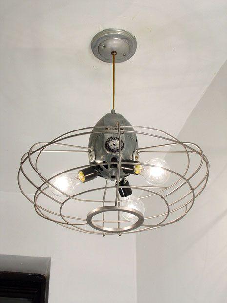 T.O.M.T. fan cage ceiling fixture