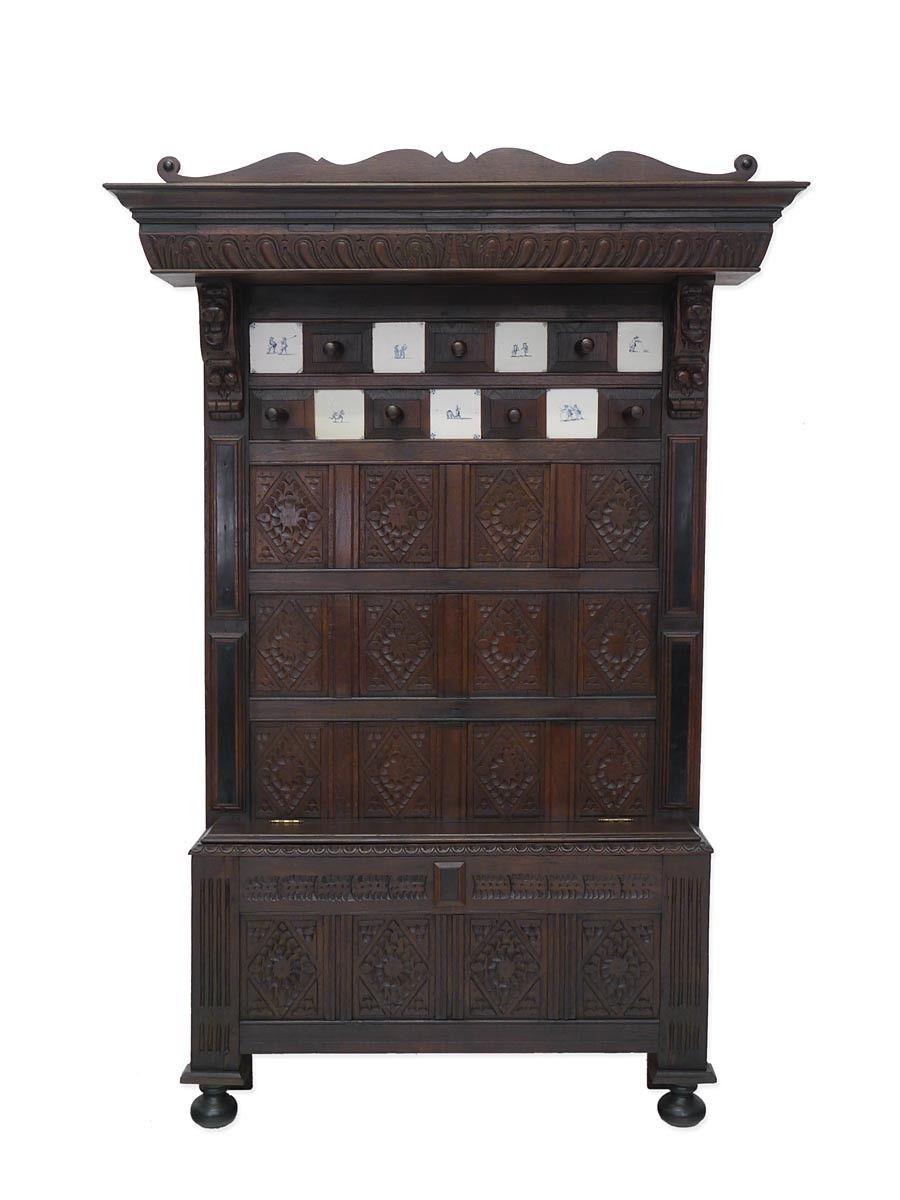 Großartig Dielenmöbel Modern Dekoration Von Garderobe Wandgarderobe Flurgarderobe Dielenmöbel Antik Um 1880