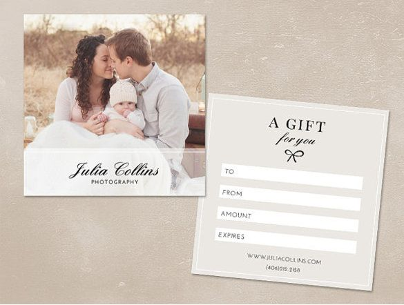 Photography Gift Certificate Template 13 Free Word Pdf