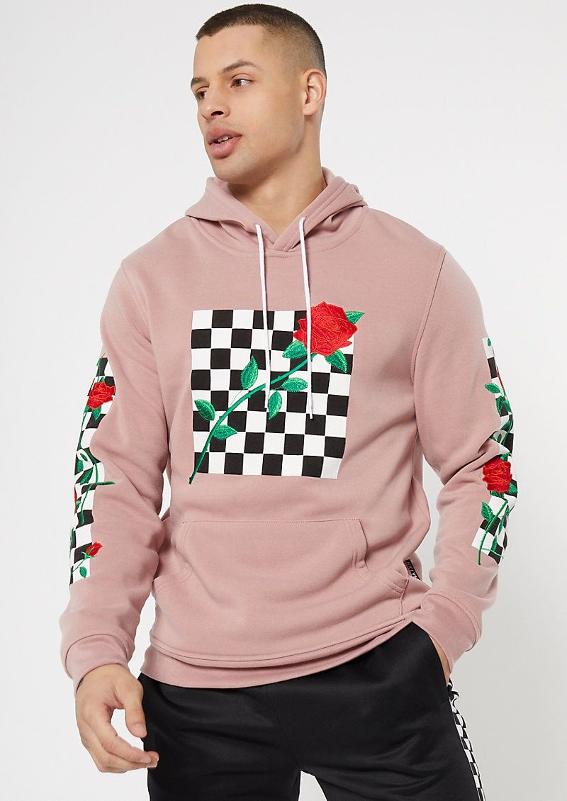 Pin By Cassiii On Apparelware 0uttaapparel Pull0verhoodi Embroidered Hoodie Checkered Outfit Rose Hoodie [ 1130 x 800 Pixel ]