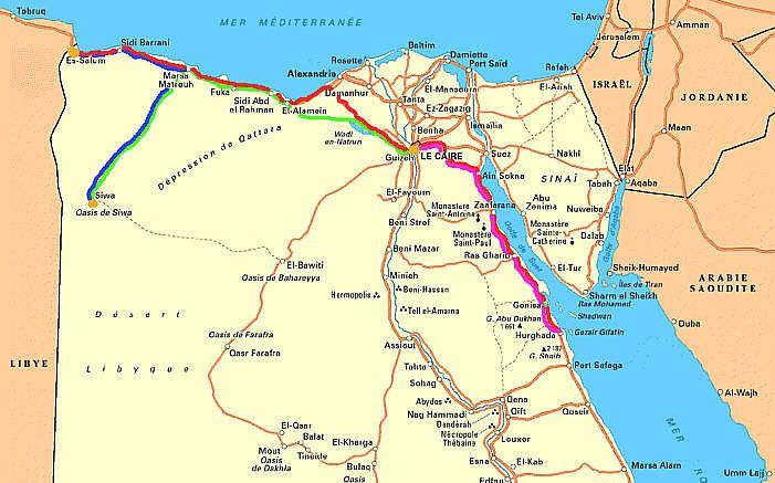 Landkarte Aegypten Strassenkarte Landkarte