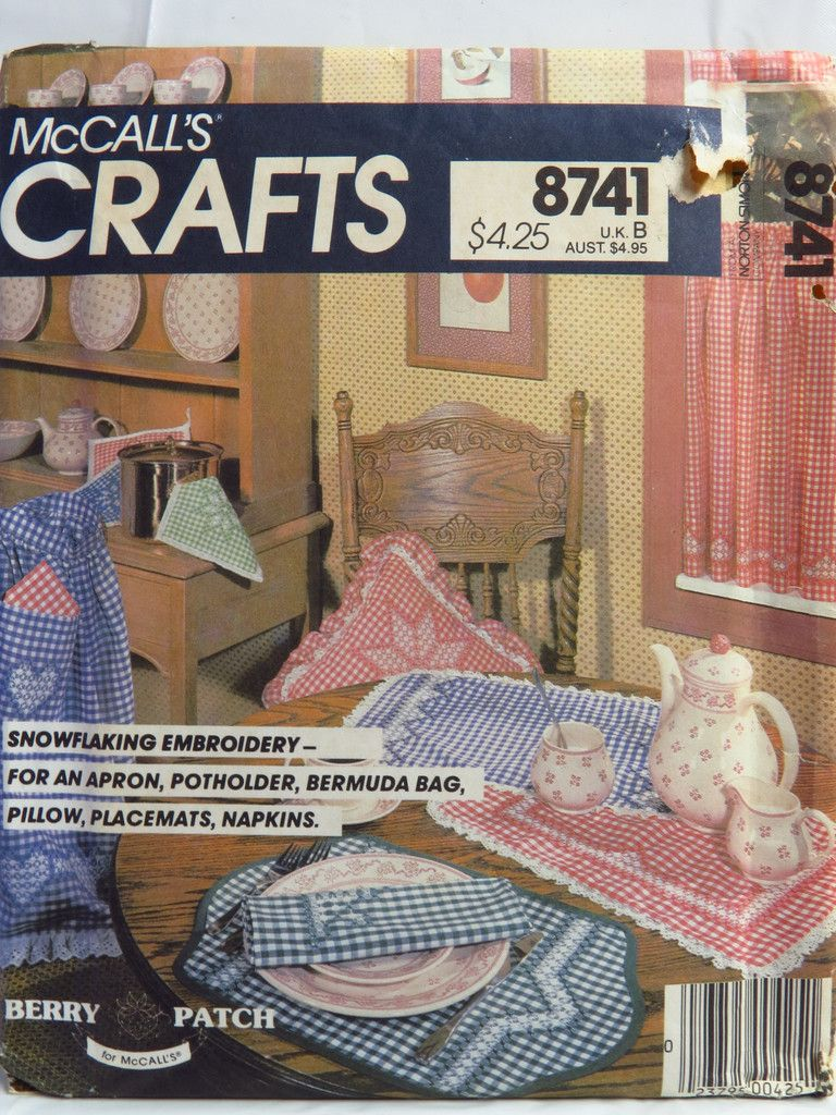 McCall's Sewing Pattern 8741 Snowflaking Embroidery
