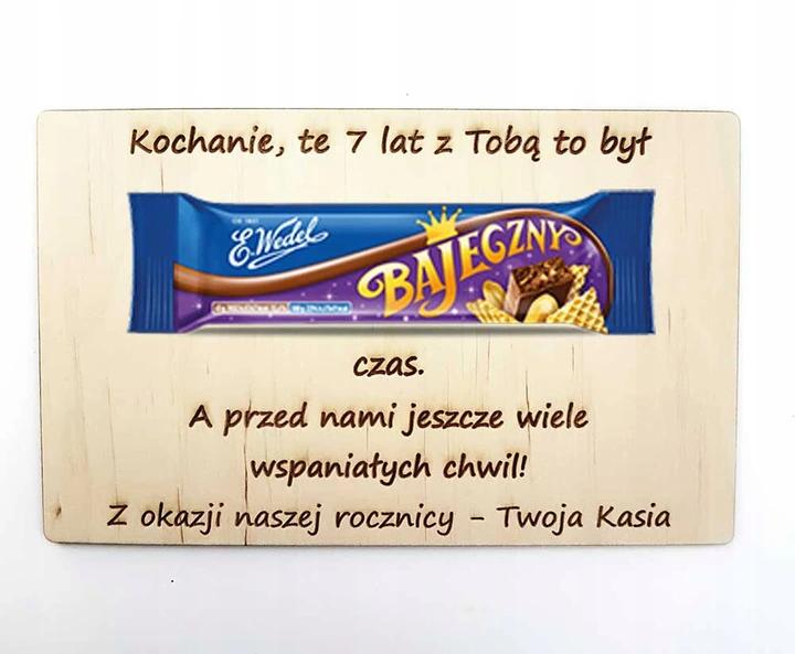Prezent Dla Meza Zony Na Rocznice Slubu Zwiazku 9211175424 Allegro Pl Candy Bar