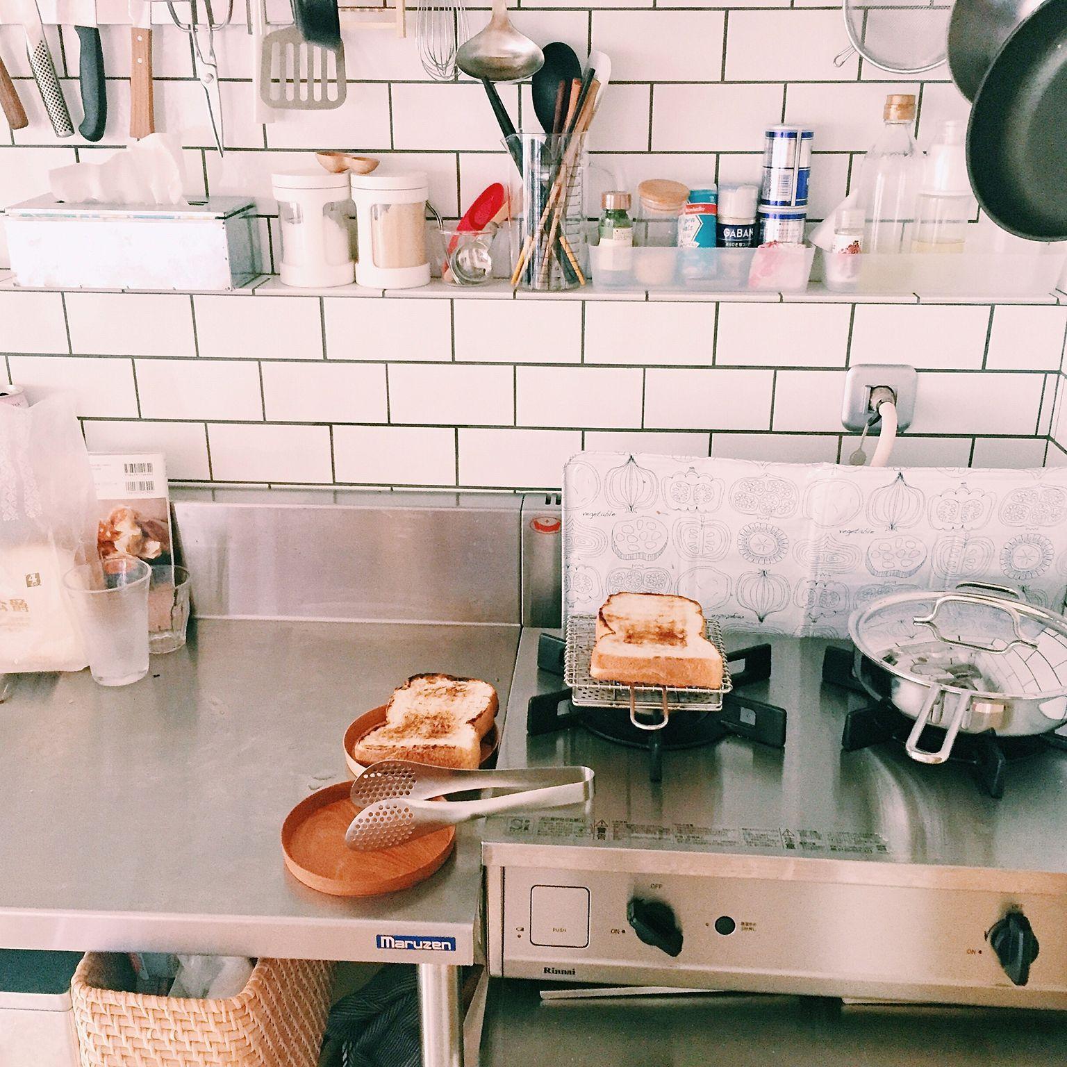 キッチン リンナイ リノベーション 業務用キッチン サブウェイタイル などのインテリア実例 2017 01 12 16 04 51 Roomclip ルームクリップ 業務用キッチン キッチンアイデア 和のインテリア