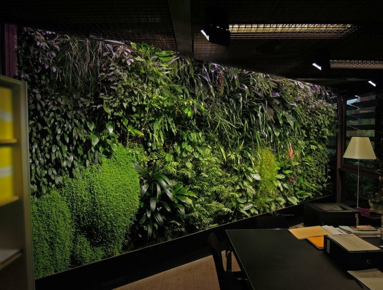 bonito jardín vertical para oficina Jardín Pinterest Jardín