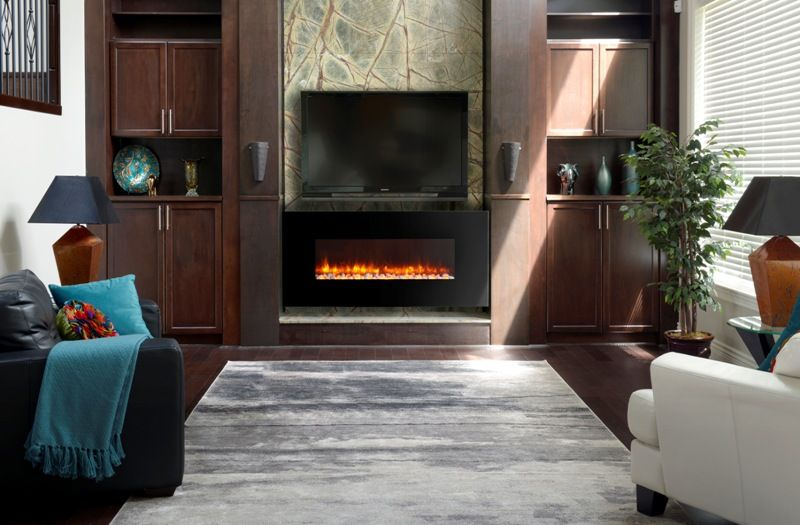 Awesome Decorate Modern Fireplace Design Ideas With Tv On Top And