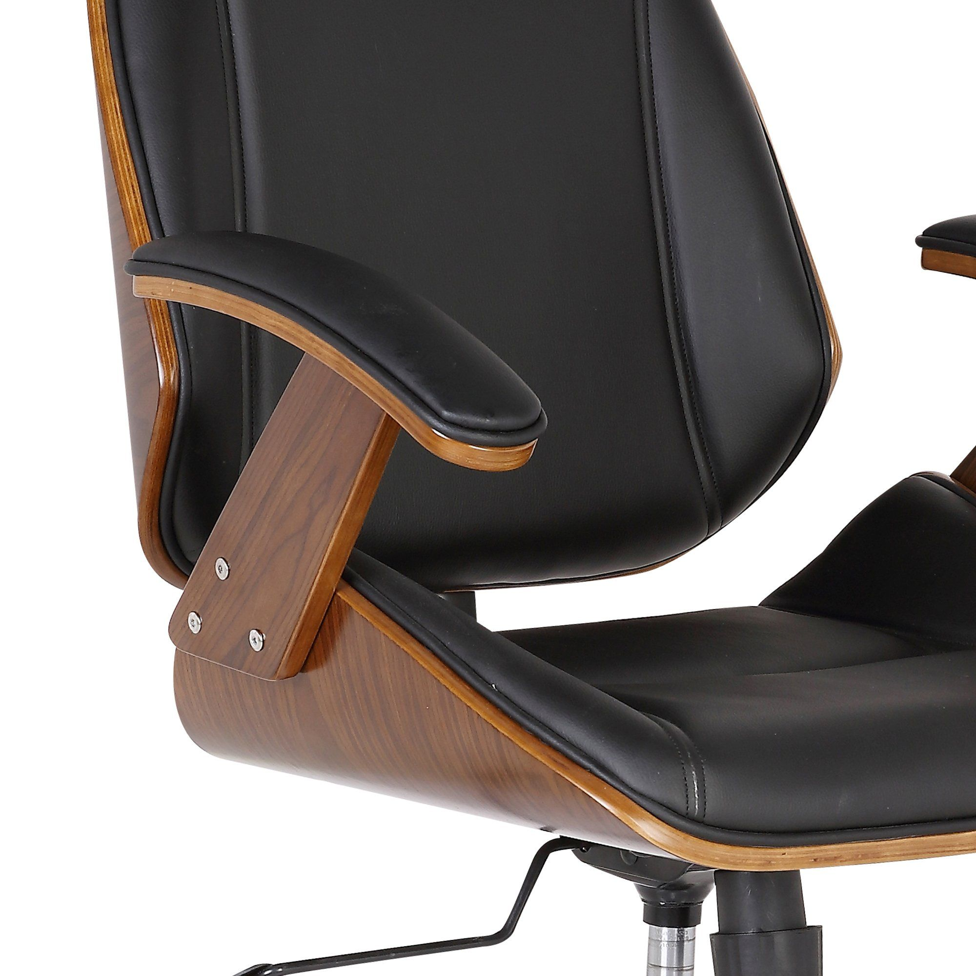 Armen living lcceofchbl century office chair in black faux