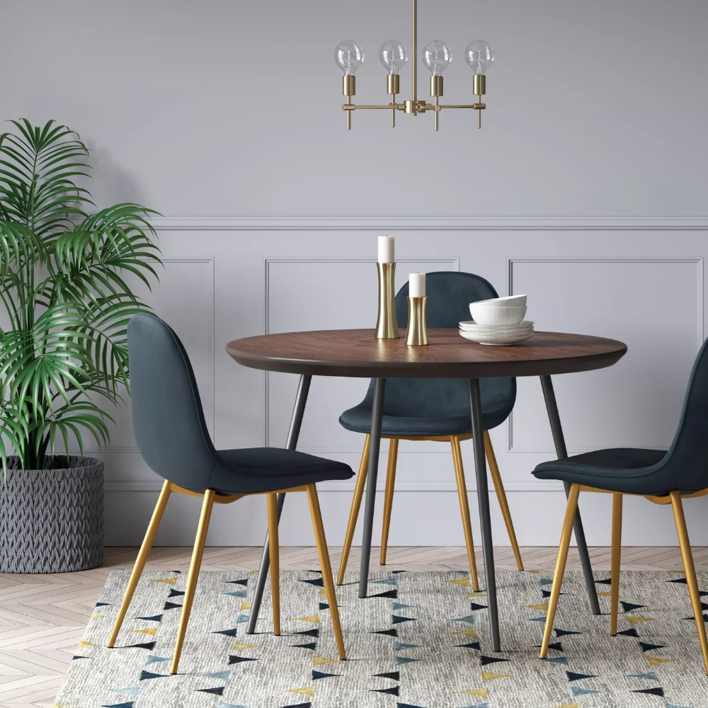 Copley Velvet Dining Chair With Brass Leg Project 62 Velvet Dining Chairs Dining Chairs Green Dining Chairs