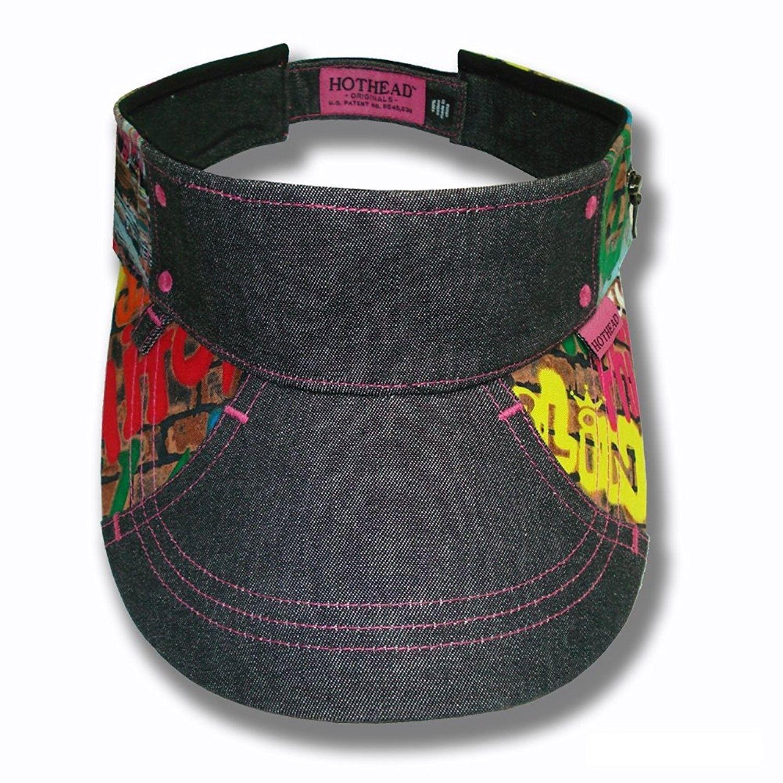 Hothead wide brim sun visor hat in graffiti with black denim jpg 1500x1500  Dope sun visors 3ca347cfec8b