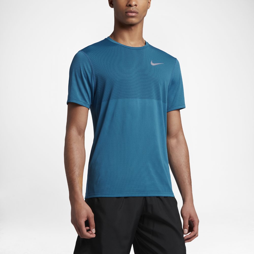2c40fec1f78de Nike Zonal Cooling Relay Men's Short Sleeve Running Top Size Medium (Blue)
