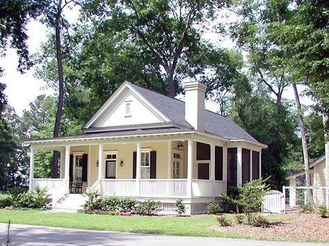 Front Color Photo Southern Living House Plans Cottage Plan Southern House Plans