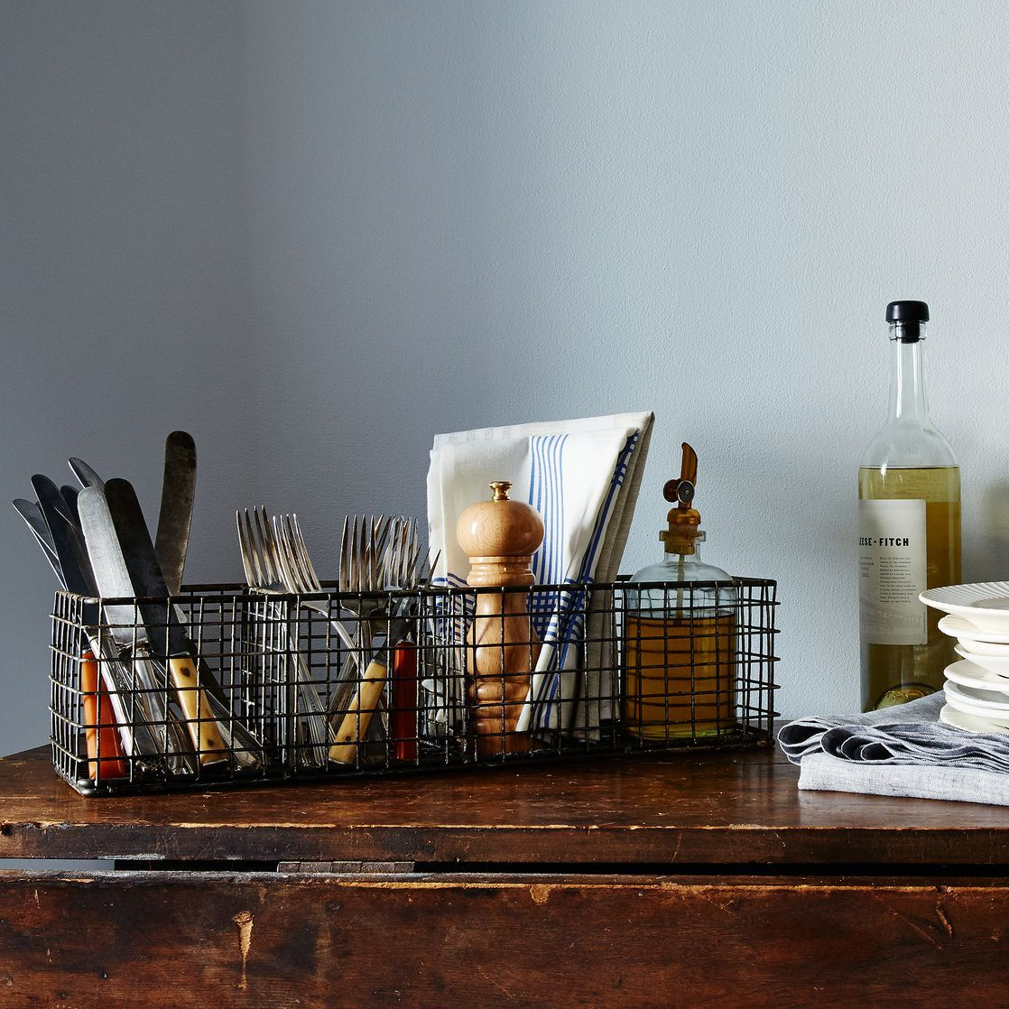 Wire Hold Everything Basket | Space kitchen, Kitchens and Kitchen ...
