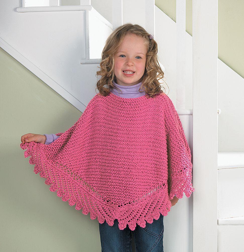 Free My Princess Poncho Knit Pattern | Poncho knitting ...