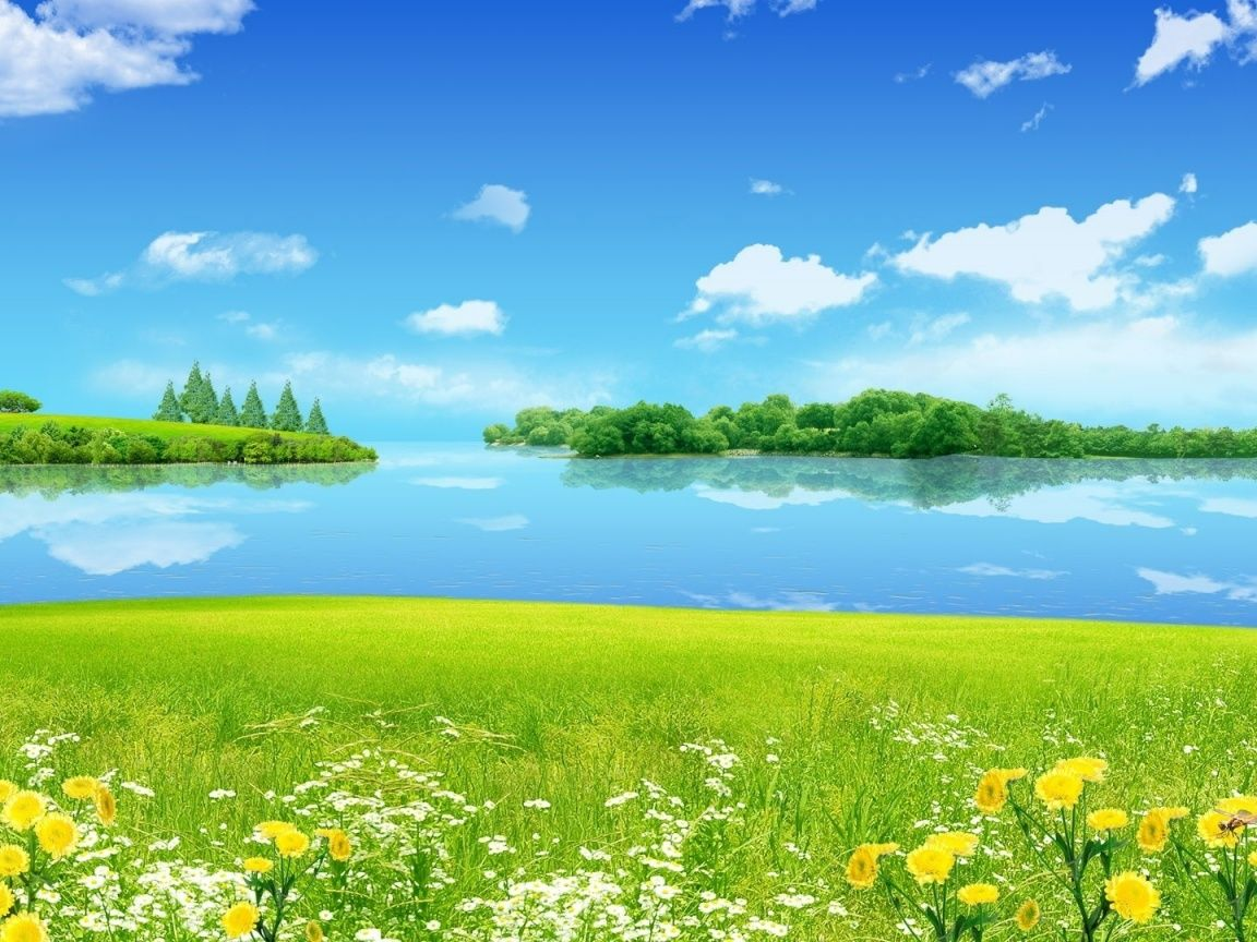 1152x864 Summer Meadow Lake Sky Desktop Pc And Mac Wallpaper Nature Desktop Beautiful Nature Wallpaper Nature Desktop Wallpaper