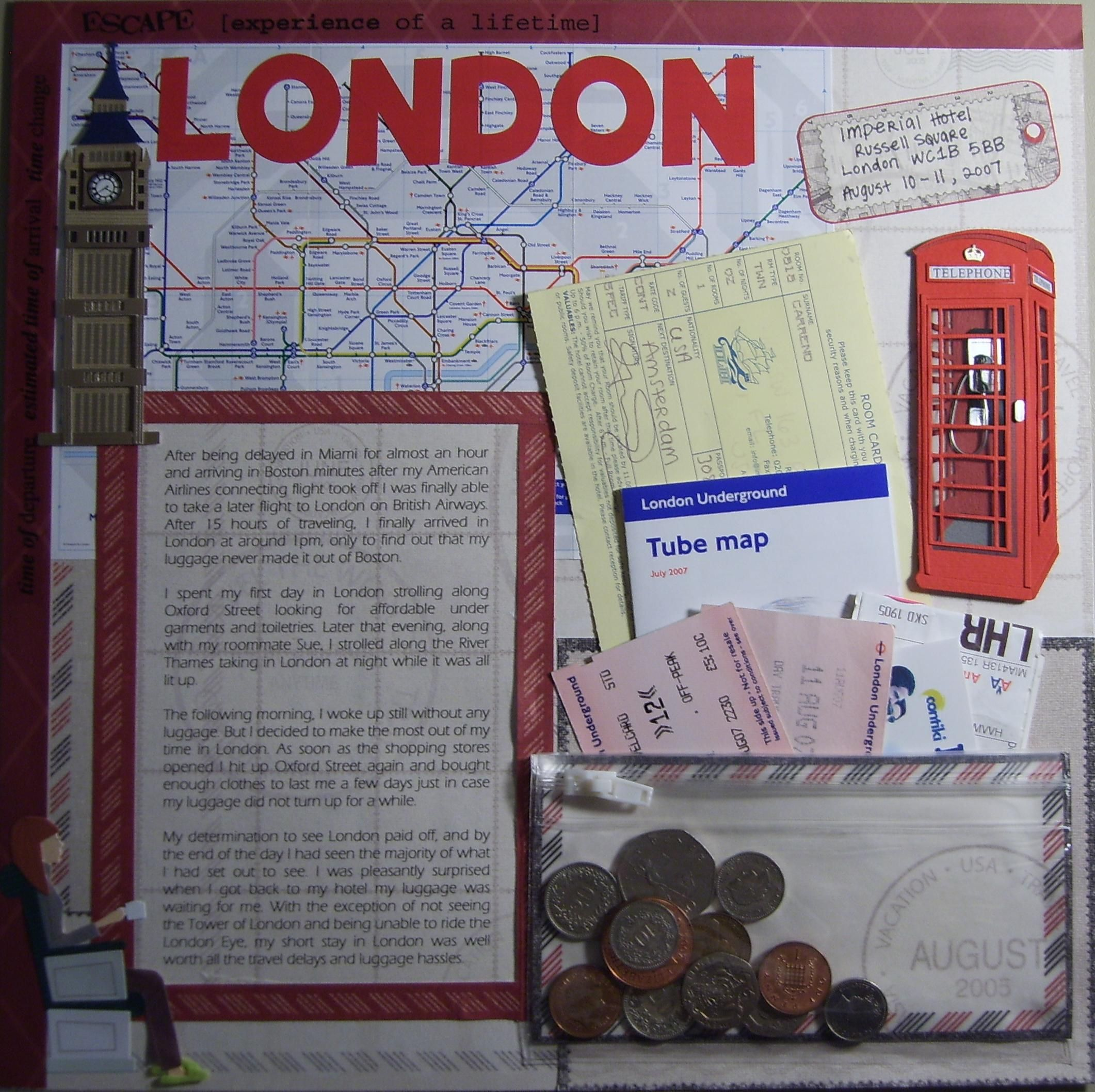 Scrapbook ideas without pictures - London Pg 2 Scrapbook Com Scrapbook Ideas Travel