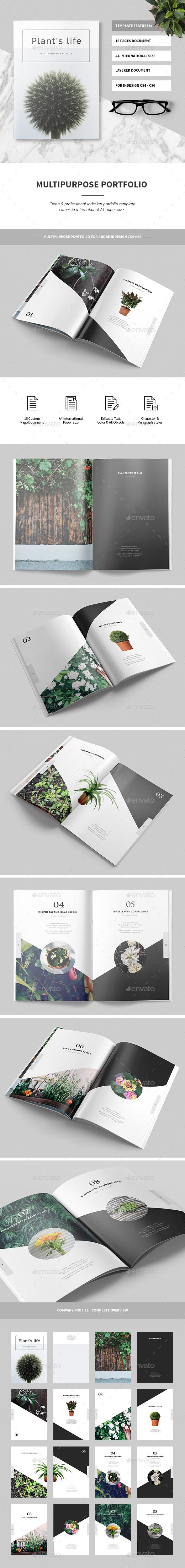 Portfolio Brochure Template InDesign INDD. Download here: https ...