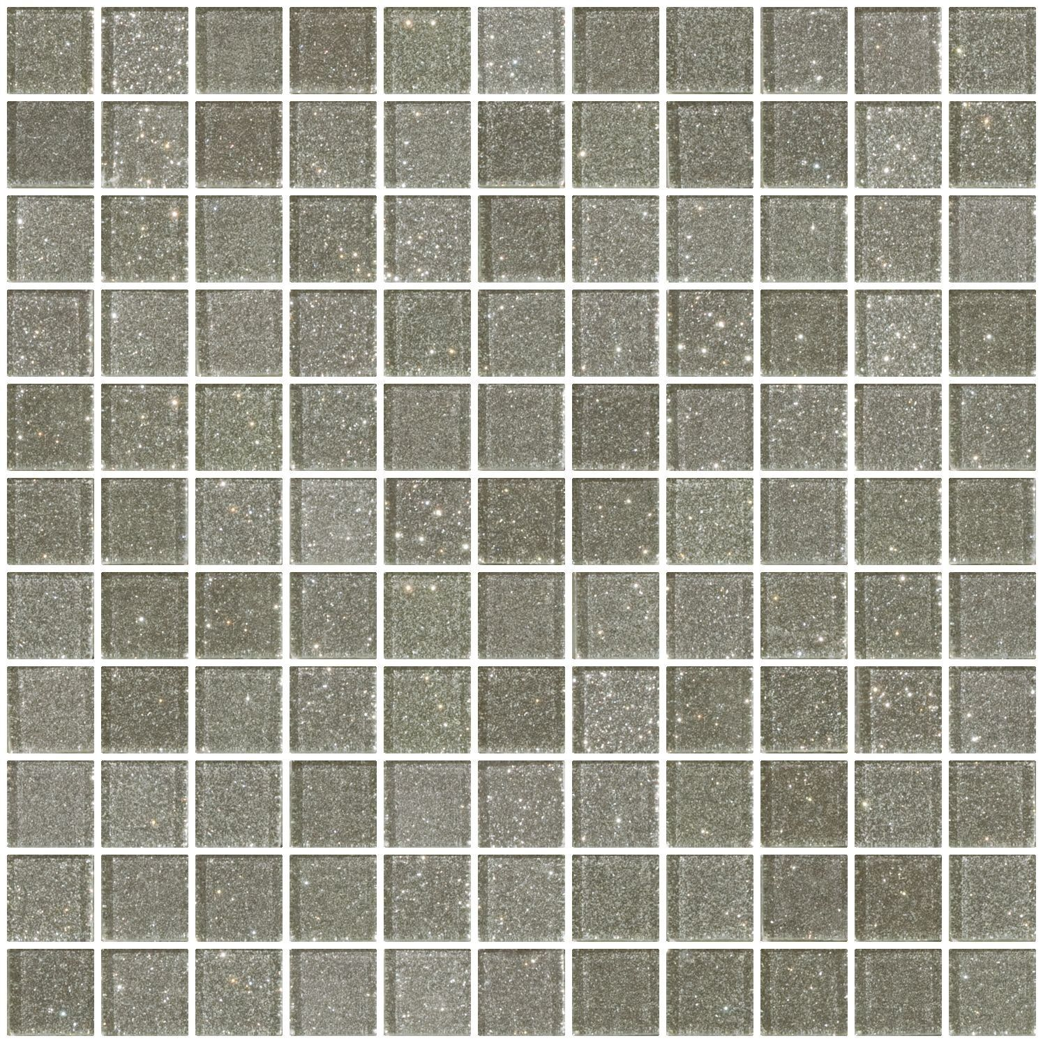 1 Inch Silver Glitter Glass Tile Mosaic Glass Mosaic Tiles Glass Mosaic Tiles