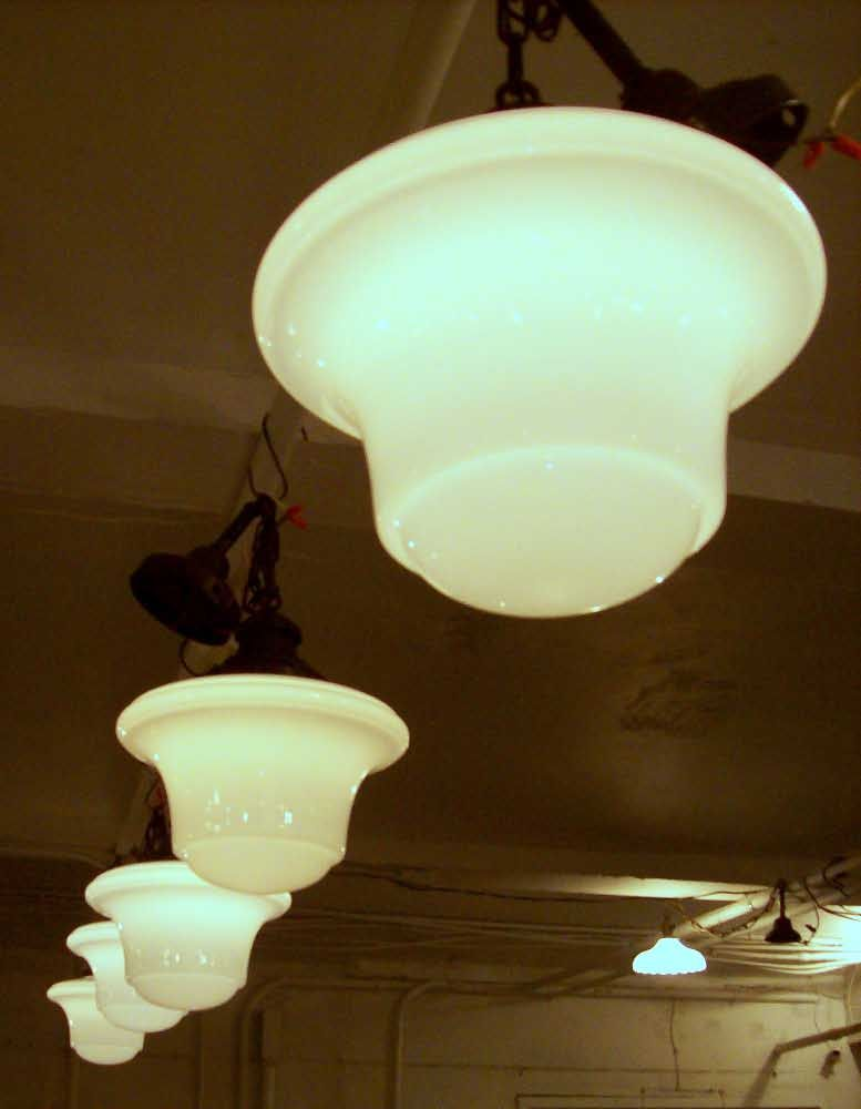 art deco style school house lights: architectural salvage online