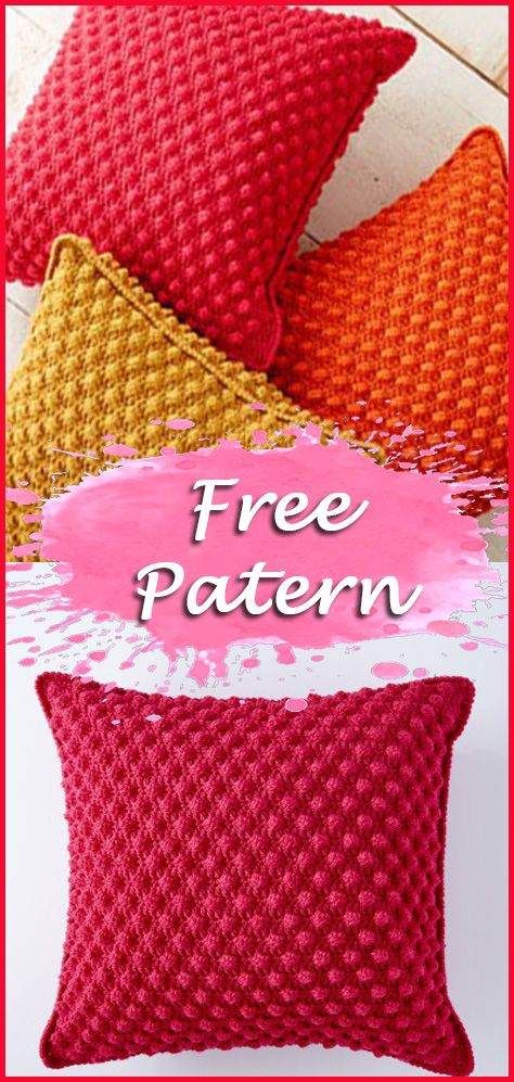 Crochet Cushion And Pillow Free Pattern And Tutorial Instructions
