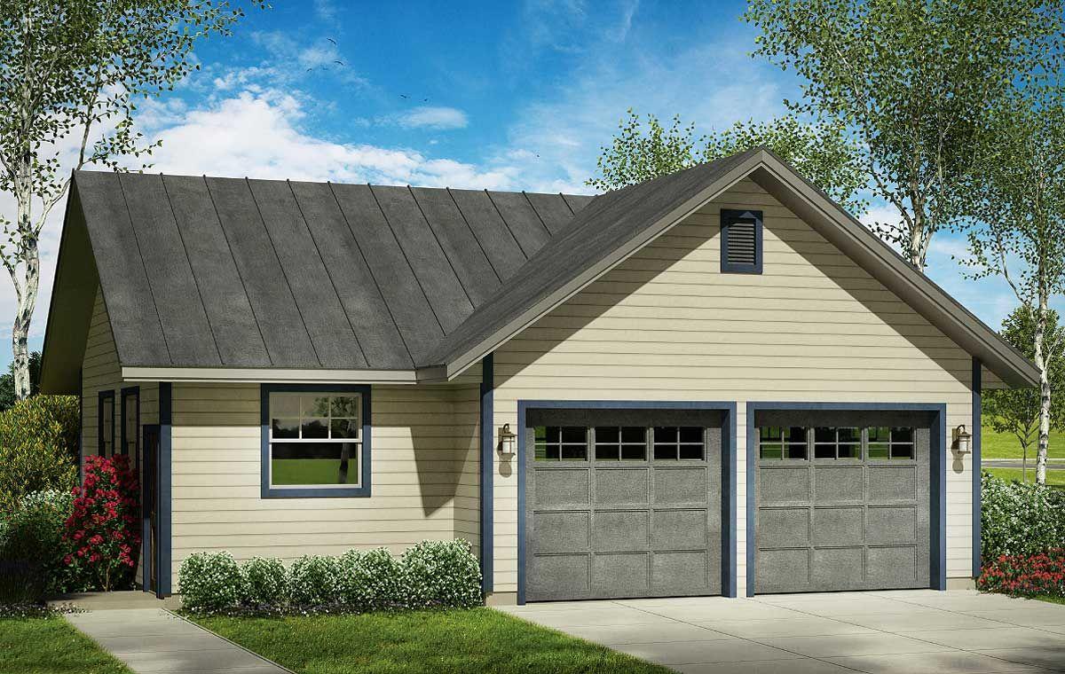 2 Car Garage Plan with Shop Garage plans