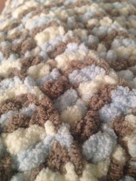 Barnet Baby Blanket yarn crochet blanket you choose by FiveofaKind