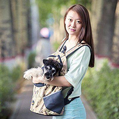 Ondoing Hunde Rucksack Atmungsaktiv Schultertasche Tragetasche für ...