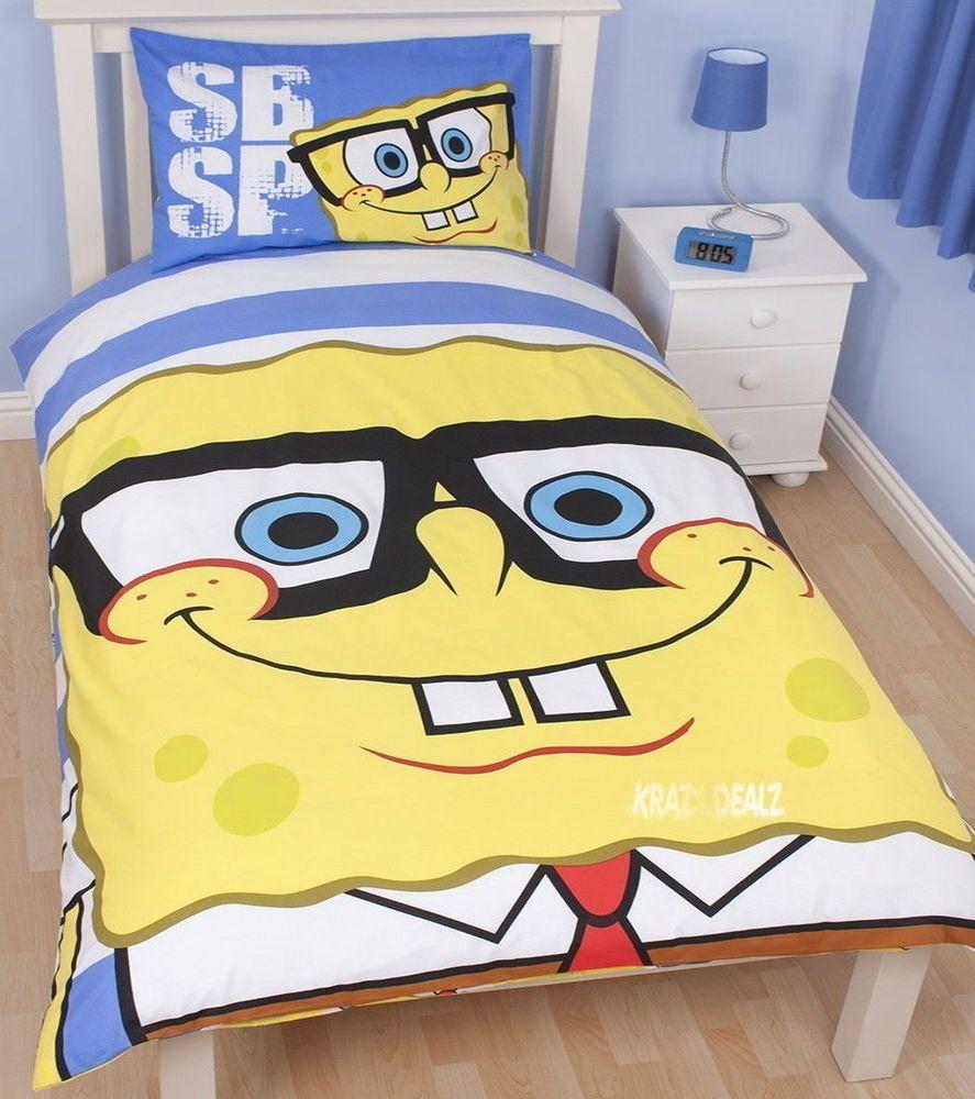 Spongebob Squarepants Framed Bed Set Single Duvet Cover Pillowcase Reversible
