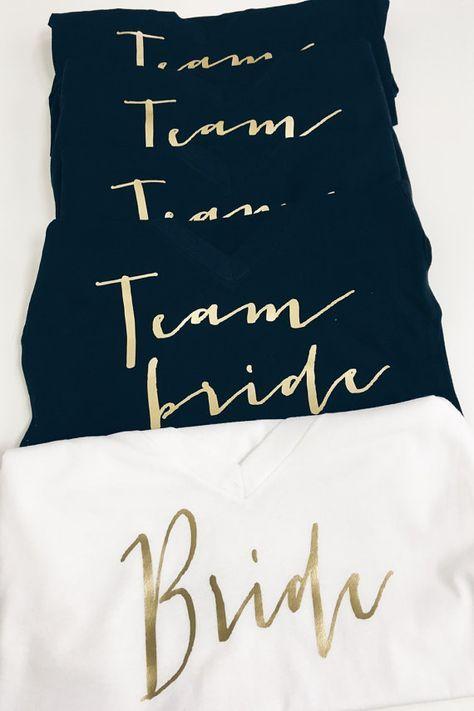 Team Braut Shirt   Braut Partei von keeplifesimpledesign