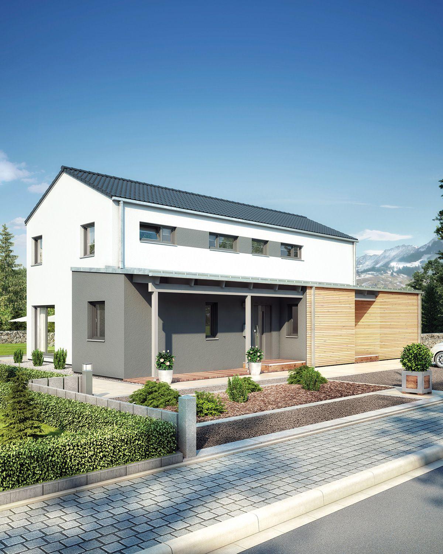 Das Fertighaus Duo 211 von Hanse Haus bietet mit 84 m² im