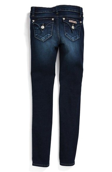 Hudson Kids 'Collin' Flap Pocket Skinny Jeans (Freezer Blue) (Toddler Girls, Little Girls & Big Girls) available at #Nordstrom