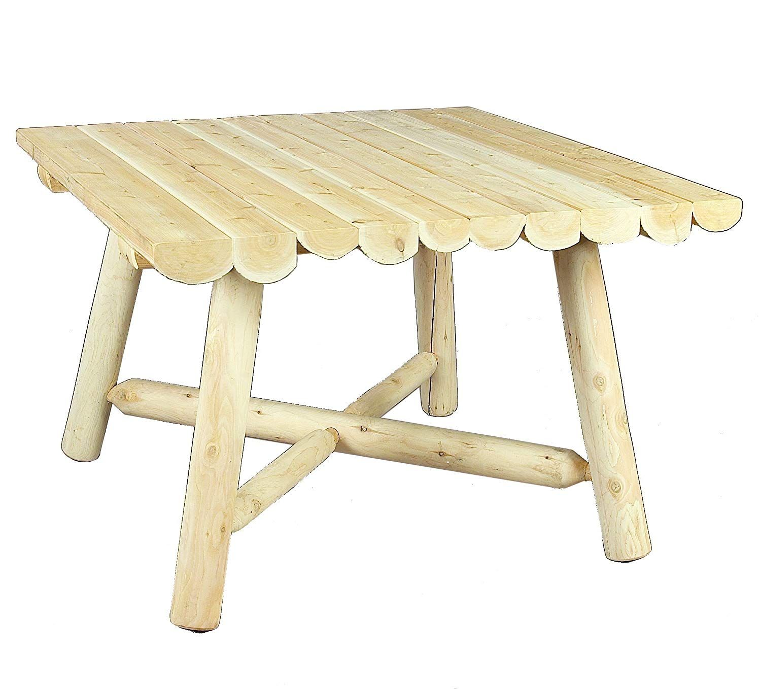 Cedarlooks 1100130 Log Square Dining Table 42 Inch Square