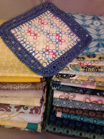 Fusion Blanket Crochet Along First Block Sewing