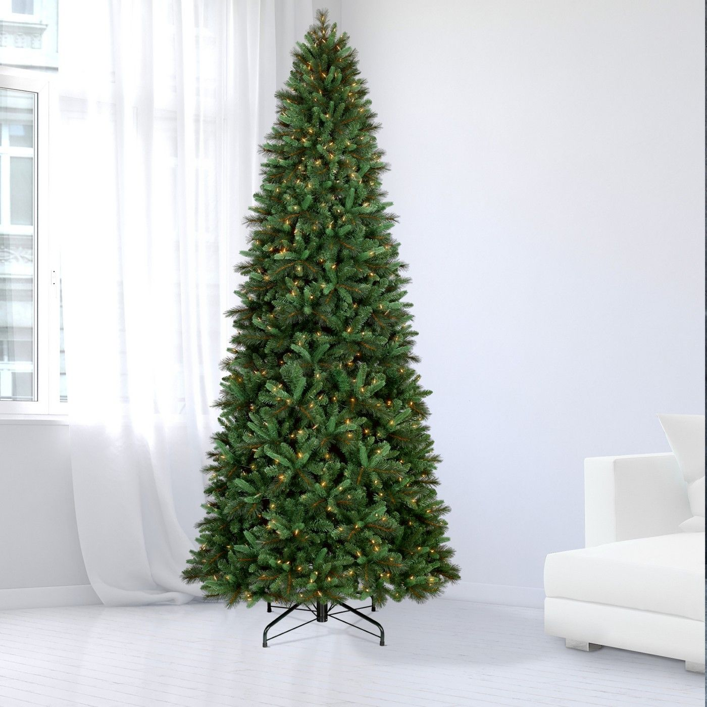 Philips 10.5ft Pre-lit Full Artificial Christmas Tree Balsam Fir - Warm White LED Lights # ...