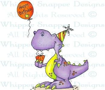 Birthday Bagaceratops - Dinosaurs - Animals - Rubber Stamps - Shop