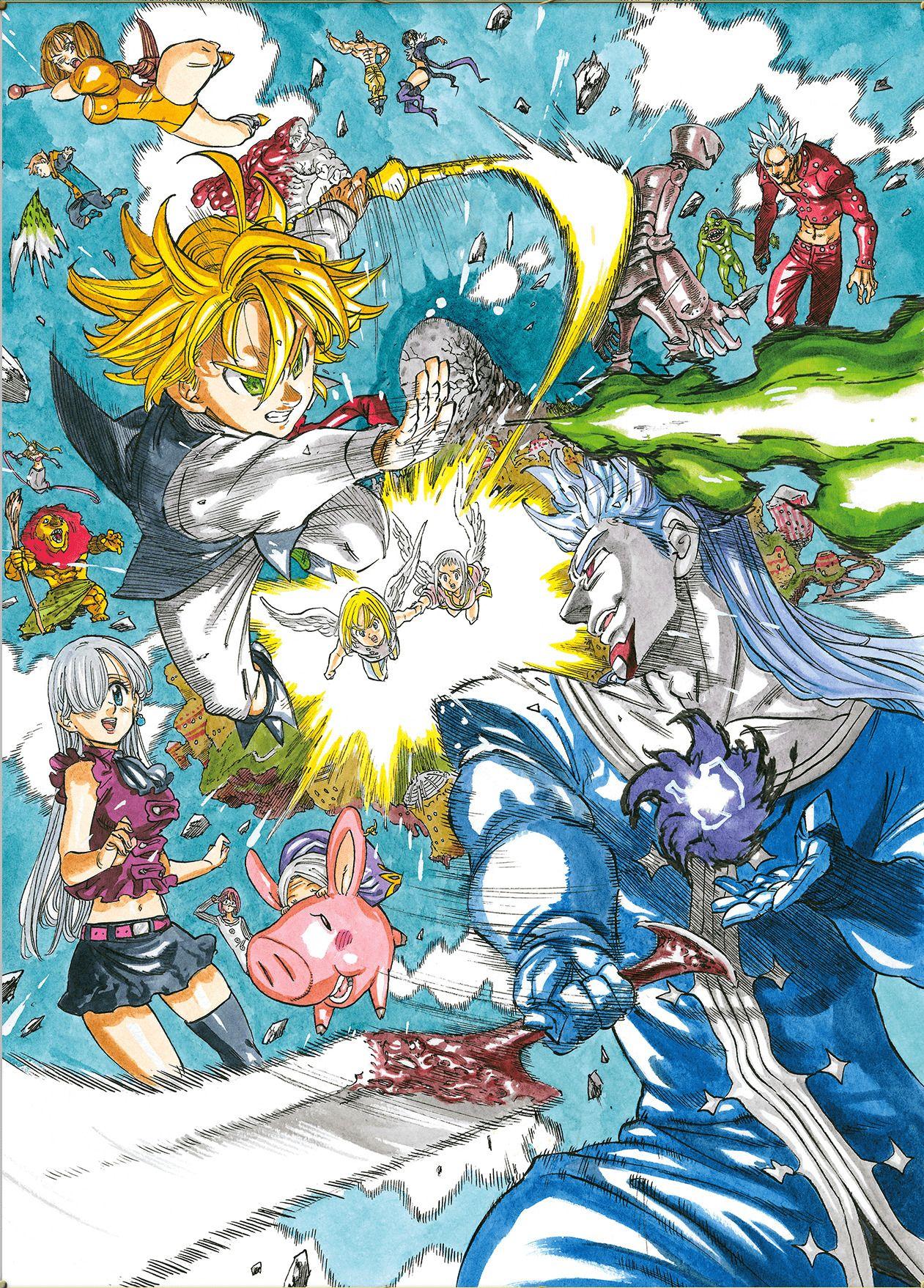 Nanatsu No Taizai Prisioneros Del Cielo Seven Deadly Sins Anime Nanatsu No Taizai Manga Nanatsu
