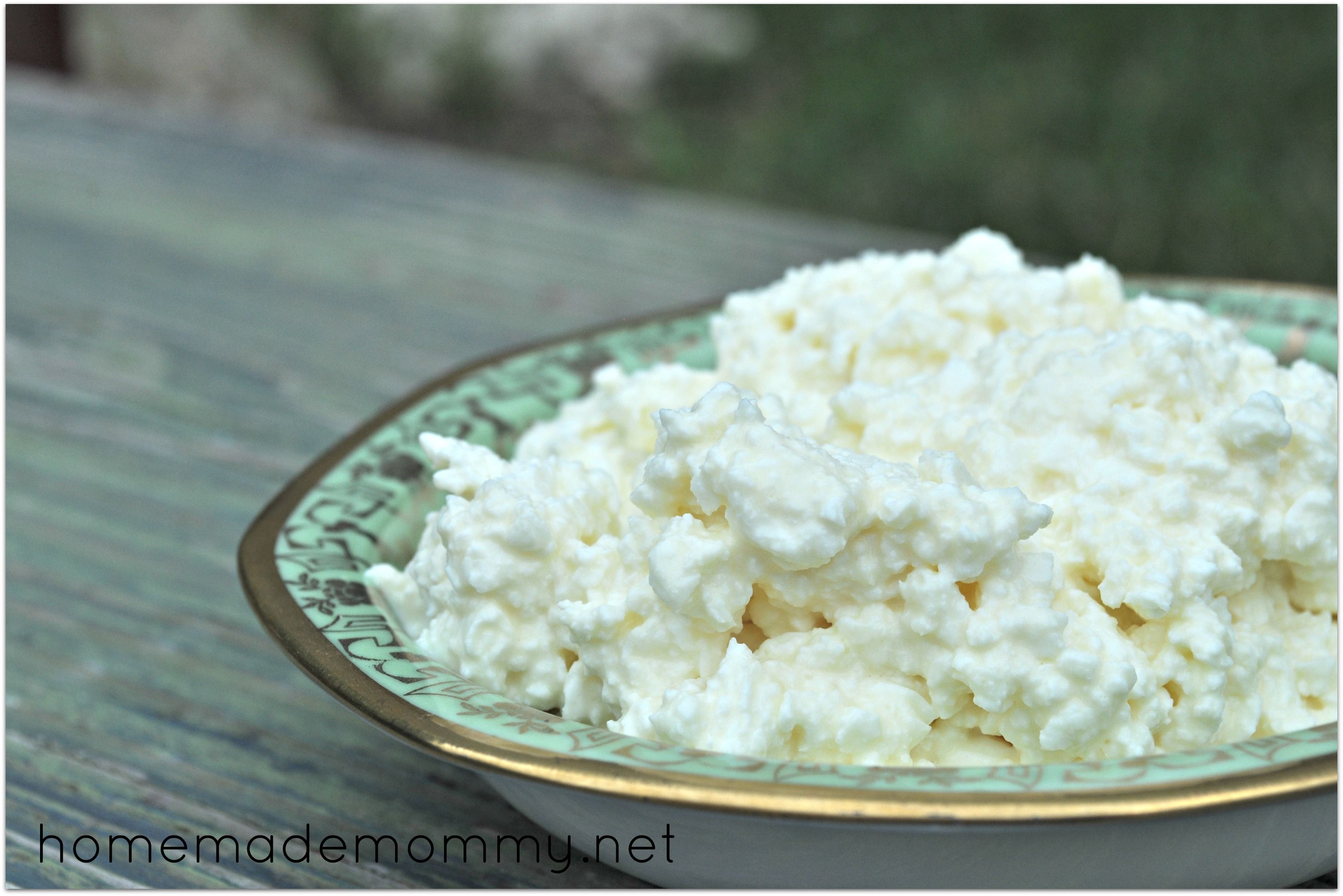 Homemade Cottage Cheese Via Homemade Mommy