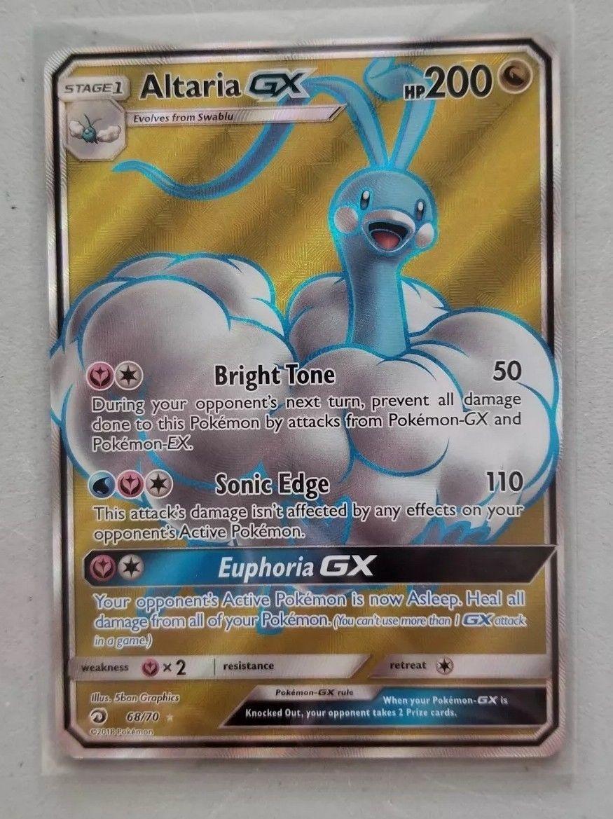 Pokemon Card ULTRA ALTARIA GX Ultra Rare FULL ART 68//70  DRAGON MAJESTY **MINT**