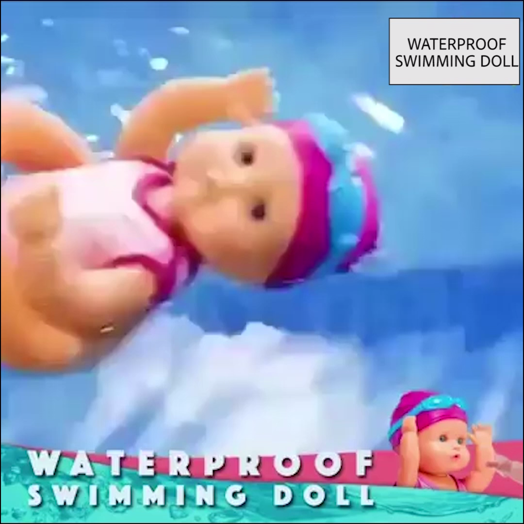 50% OFF Electric Waterproof Swimming Doll  #doll #Electric #Swimming #Waterproof