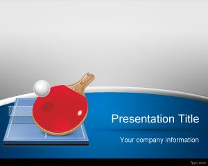 Table Tennis Sport Background Free Background Graphics Powerpoint Table Tennis Powerpoint Templates