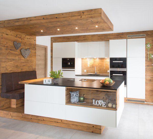 Offene Moderne Küche: Küche Mit Holz In 2019