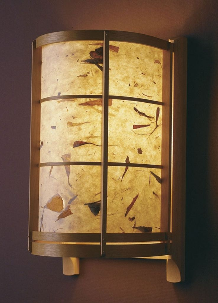 Japanese Style Sconce Finewoodworking Japanese Wall Sconce ...